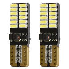FLAT 24smd T10 LED Canbus ERROR FREE 12v 501 Xenon White Bulb Sidelight W5W slim