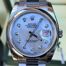 Rolex 36mm Datejust Steel 116200 Smooth Bezel MOP Diamond Dial for 116234 Unworn