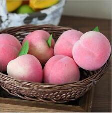 Lifelike Artifical Imitation Peach Plastic Fake Fruit Mould Props Home Decor