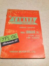 Yamaha parts list LB80IIH 511 75 LB80 2H Chappy catalogue pièces détachées 1975