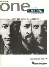 """THE BEE GEES """"ONE"""" SHEET MUSIC-PIANO/VOCAL/GUITAR-EXTREMELY RARE-NEW ON SALE!!"""