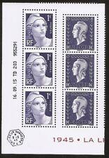 FRANCE 2015 Coin daté du bloc Libération n° 4986 et 4987 NEUFS** 6 timbres LUXE