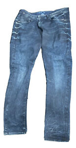 G Star Type C Back Zip 3D Super Slim Jeans Men's Denim 38 X 32 Dark Blue