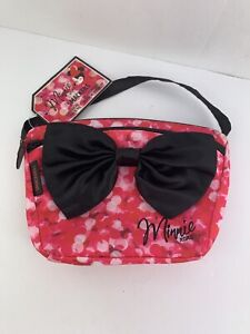 Disney Minnie Mouse Smackers XOXO Pink Bow Cute Carry All Cosmetic Bag New