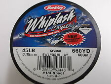 Berkley Whiplash Crystal Translucent Super Braid,45 lbs (.15mm) 660 yds.(600 m)