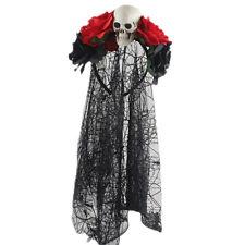Day Of the Dead Headband Bride Veil Fancy Dress Costume Halloween Accessori A9J3