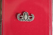 US GI ARMY MESS DRESS MINI BASIC EXP ORD DISP ANTIQUE SILVER QUALIFICATION BADGE