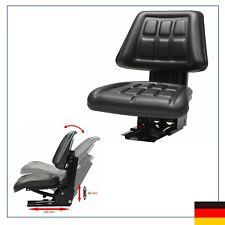 Schleppersitz Staplersitz Baggersitz Traktorsitz mit Federung Schwarz