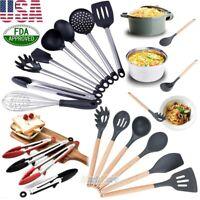 Premium 8 Piece FDA Silicone&Stainless Steel Cooking Utensil Set Kitchen Gadgets