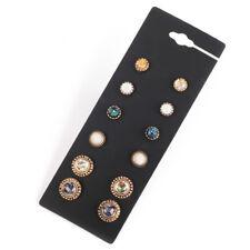 6Pairs Women Boho Earring Set Retro Party Wedding Ear Studs Jewelry Gift Sanwood