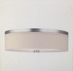 Forecast Lighting F615536NV Cassandra White Contemorary 3-Bulb Flush Ceiling LT