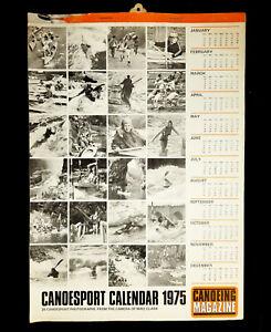 Canoe Magazine CanoeSport Calendar 1975 : 24 Canoesport photographs UNUSED