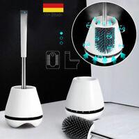 Toilettenbürste+Basis Halter Antibakterielle Klobürste WC Bürste Brush Halter DE
