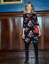Boden Ladies GORGEOUS Alda Dress Graphite Swallows Vine W0019 UK 10R. Brand new.