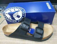 Birkenstock Men's Arizona Sandals Black 100% Authentic