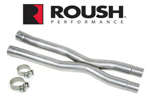 2015-2021 Mustang GT 5.0 Roush X-Pipe Stainless Steel Exhaust Resonator Delete