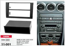 Carav 11-001 Autorradio embellecedor de radio para Audi A4 B6 B7 DIN negro