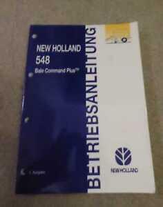New Holland Ballenpresse 548 Betriebsanleitung