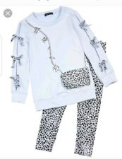Kate Mack Tunic & Leggings Set Blue Size 7 Years