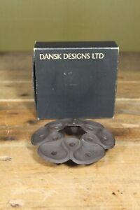Vintage Mid Century Dansk Designs Cast Iron Tiny Taper Candle Holder