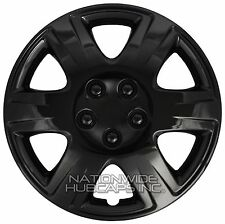 "4 Black 2003-2016 Toyota Corolla 15"" Wheel Covers Full Rim Hub Caps STEEL CLIPS"