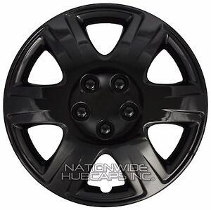 "4 Black 2003-2016 Toyota Corolla 15"" Wheel Covers Full Rim Hub Caps STEEL CLIPS"