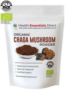 Organic Wild Chaga Mushroom Powder (Perfect Chaga Tea - Mushroom of Immortality)