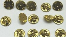 Brass Clutch Backs Pin Back Insignia Badge guards Insignia Lot of 14