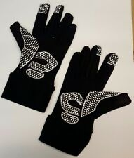 Winter cycling gloves full finger thermal lycra silicone pads in black medium.