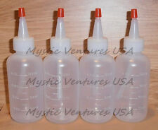 4X NEW 4oz Snuffer Bottle GOLD Prospecting Clean-up Pan Panning Sluice FREE SHIP