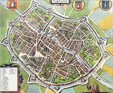 Reproduction plan ancien de Tournai (Doornik) 1588