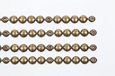 4 MTS Tappezzeria decorativa striscia Borchie/punte 11MM Old Gold