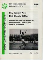 OL 77/78  BSG Chemie Böhlen - BSG Wismut Aue