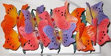 String of Ten Multicolor Butterfly Fiber optic Lights - 17 Feet Long