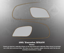 YAMAHA 1981 XS1100 VENTURE TANK DECALS GRAPHICS SET