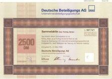 Deutsche Beteiligungs AG  2500DM Königstein 1990