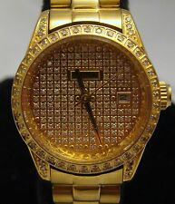 Ladies Women's Croton Diamond Case and Dial Stainless Steel Water Resistant