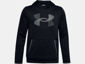 Under Armour Boy's UA Fleece Big Logo Hoodie Hooded Sweatshirt Armour Fleece
