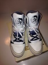 Diesel White High Tops Sneakers For Men I'm Pression Mid Size 13 Limited Edition