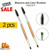 2 PCs Duo Eyebrow Brush Angled Eye Brow Brush Dual Ended Angled Spoolie Brush UK