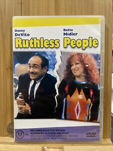 Ruthless People DVD Danny DeVito, Bette Midler Comedy Region 4 Rare