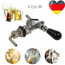 G5/8 Kompensatorschankhahn mit Chrom Schaumtaste Edelstahl Zapfhahn Bier zapfen