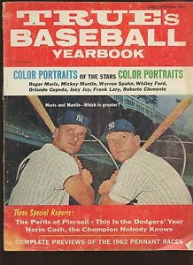 1962 Trues Basketball Yearbook With Mickey Mantle & Roger Maris Cover VG