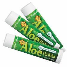 Aloe Lip Balm - 3 Pack with SPF-15 Sunscreen Ends Dry Chapped Lips