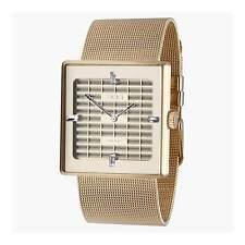 """EOS New York """"Petra Gold"""" Cuarzo Malla de Acero IP Oro Swarovski Mujer Reloj"""