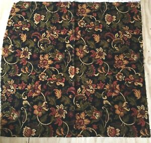 "Flannel Quilting Fabric: 100% Cotton Spice Market Floral Remnants 42""x45"""