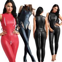 Catsuit Open Bust Bodysuit Cat Women's Costume Lingerie Jumpsuit Romper Clubwear