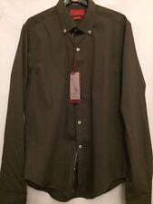 Mens Brown/khaki Long Sleeve Shirt Size Small From Zara Slim Fit