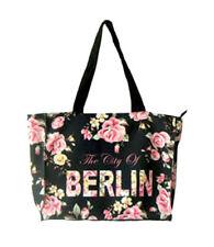 ROBIN RUTH City Shopper Tasche Berlin Flowers NEU Schwarz Städtetasche Rosen L