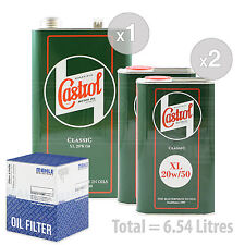 Engine Oil and Filter Service Kit 6 LITRES Castrol Classic XL 20W-50 6L